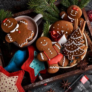 Рождественские пряники с имбирем и корицей