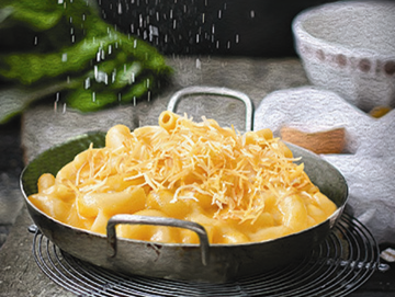 Delicate and refined pasta with Cheddar
