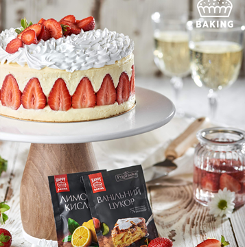 Торт «Фрезье» или «Клубничник»  от Лизы Глинской и ТМ Приправка