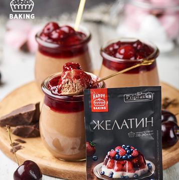 Шоколадный мусс с вишневой начинкой от Лизы Глинской и ТМ Приправка